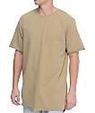 Ninth Hall Phase Split camiseta en color arena