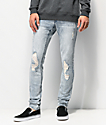 Ninth Hall Rogue Alda Light Washed Blue Jeans