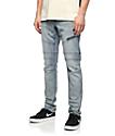 Ninth Hall Rogue Moto jeans en azul claro
