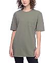 Ninth Hall Sincerely camiseta con bolsillo en verde olivo