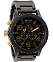 Nixon 51-30 Chrono Matte Black & Gold Watch