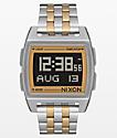 Nixon Base Silver & Light Gold Digital Watch