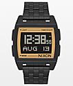 Nixon Base reloj digital en negro y oro