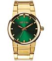 Nixon Cannon reloj analógico en colores oro y verde