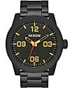 Nixon Corporal All Black Surplus Analog Watch