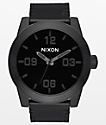 Nixon Corporal Leather All Black Analog Watch