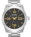 Nixon Corporal SS Black Stamped & Gold Analog Watch