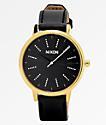 Nixon Kensington Disco Black & Gold Leather Watch