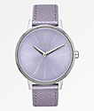 Nixon Kensington Leather Lavender Analog Watch