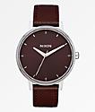 Nixon Kensington Leather Port Analog Watch