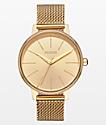 Nixon Kensington Milanese reloj analógico de oro