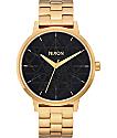 Nixon Kensington Sacred Geo reloj en dorado y negro
