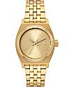 Nixon Medium Time Teller All Gold Watch
