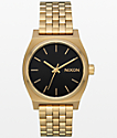 Nixon Medium Time Teller Light Gold & Black Sunray Watch