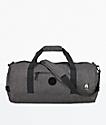 Nixon Pipes II bolso de viaje en negro y color carbón jaspeado