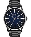 Nixon Sentry SS Ombre reloj en negro y azul