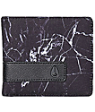 Nixon Showoff Marbled Black Smoke Bifold Wallet