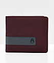 Nixon Showoff Port Red Bi-Fold Wallet