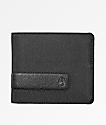 Nixon Showoff cartera plegable de nailon negro