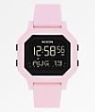 Nixon Siren reloj digital rosa pálido
