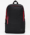 Nixon Smith SE II mochila negra y roja
