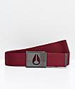 Nixon Spy cinturón tejido de color borgoño