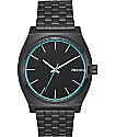 Nixon Time Teller All Black & Blue Analog Watch