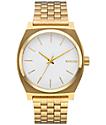 Nixon Time Teller Gold & White Watch