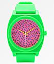 Nixon Time Teller Matte Neon Green & Pink Analog Watch