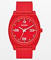 Nixon Time Teller P Corp  reloj analógico rojo y blanco