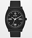 Nixon Time Teller P Corp reloj analógico negro y blanco