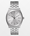 Nixon Time Teller Silver Analog Watch