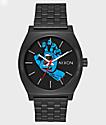 Nixon Time Teller X Santa Cruz Black Screaming Hand Watch
