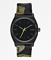 Nixon Time Teller reloj analógico en negro, camuflaje y amarillo