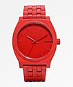 Nixon Time Teller reloj analógico rojo