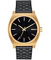 Nixon Time Teller reloj en colores negro y oro