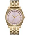 Nixon Time Teller reloj en oro claro y rosa