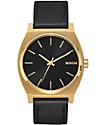 Nixon Timeteller Leather Gold, Black & Black Analog Watch