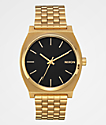 Nixon Timeteller reloj analógico en negro y color oro