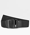 Nixon cinturón de gancho tejido en negro