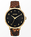 Nixon x Amuse Society Arrow Leather Gold & Rust Watch