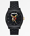 Nixon x Metallica Time Teller Pushead reloj negro
