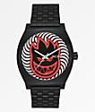 Nixon x Spitfire Time Teller Black Fireball Analog Watch