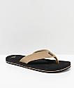O'Neill Doheny Tan & Black Sandals