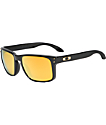 Oakley Holbrook Polished Black & Gold Iridium Sunglasses