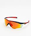 Oakley M2 XL Snapback Navy & Red Prizm Sunglasses