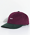 Obey 90s Jumble Burgundy & Green Six Panel Hat