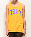 Obey Academic Gold Tank Top