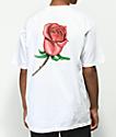 Obey Airbrushed Rose camiseta blanca
