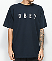 Obey Anyway Dark Navy & White T-Shirt